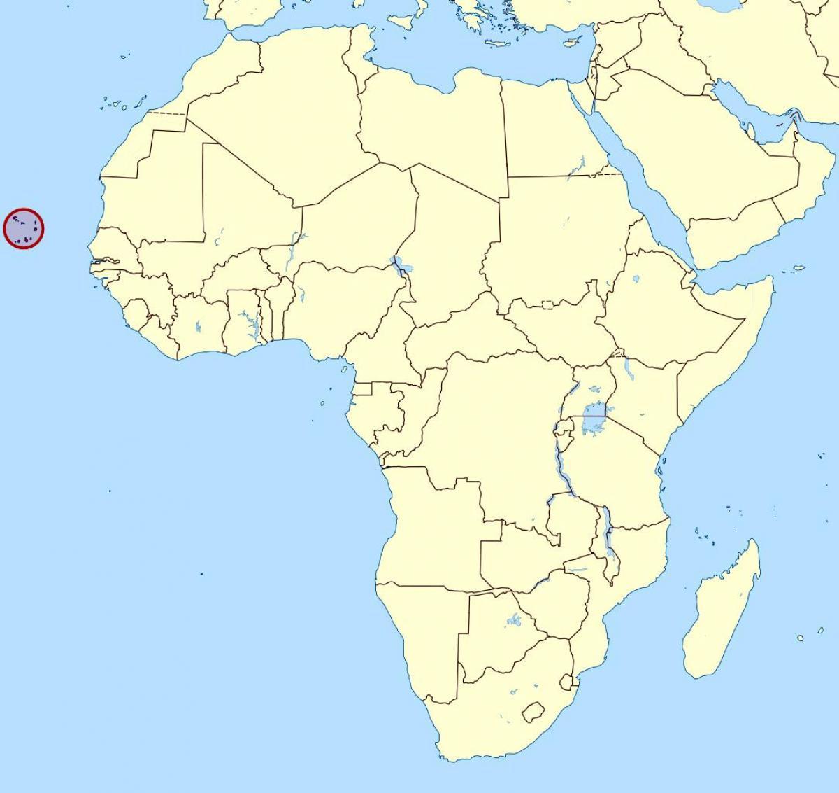Kap Verde Karta Lage Karta Over Cape Verde Karta Lage Vastra