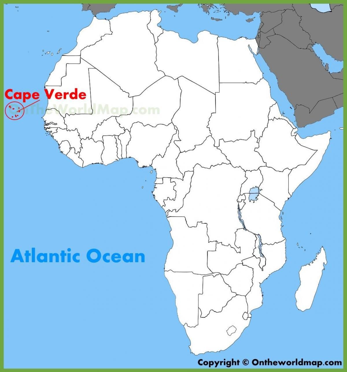 Karta Over Sal Pa Kap Verde Sal Cabo Verde Karta Vastra Afrika